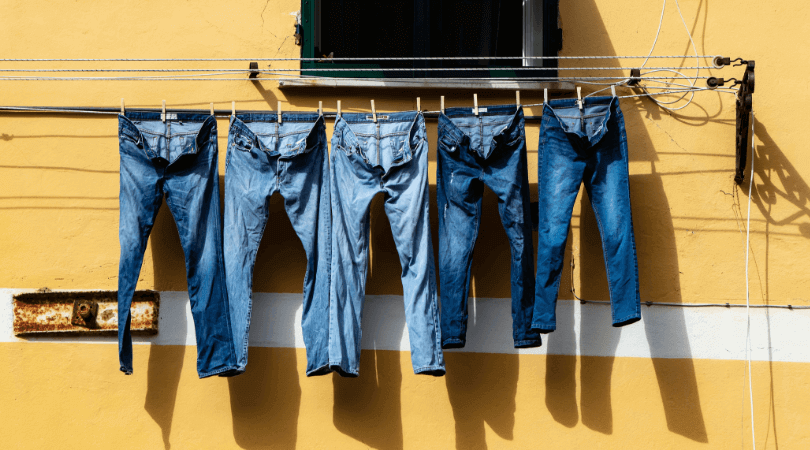 jeans on a line